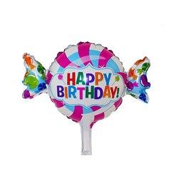 """№004 Фигура с гелием. Конфетка """"Happy Birthday"""". 65 см*45 см."""