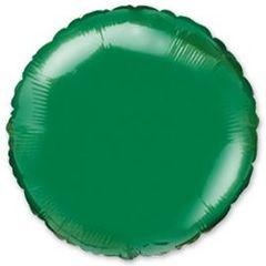 №154 Круг Зелёный. С гелием. 45 см.