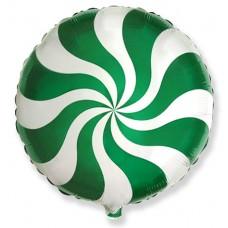 """№014 """"Конфета Леденец"""" Зелёная. С гелием. 45 см."""
