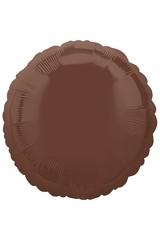 № 162 Круг Шоколад. С гелием. 45 см.