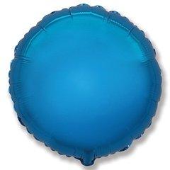 №158 Круг Синий. С гелием. 45 см.
