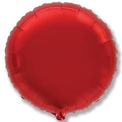 №153 Круг Красный. С гелием. 45 см.