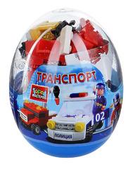 """КОНСТРУКТОР ПЛАСТМАССОВЫЙ """"ТРАНСПОРТ"""" В АССОРТ., В ЯЙЦЕ NT-9813-R (ГОРОД МАСТЕРОВ)"""