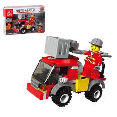 """Конструктор 3 в 1 """"Пожарные"""" - Спецтехника, 76 деталей Fire Rescue"""