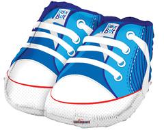 №036 Фигура с гелием. Ботиночки синие. 45 см*50 см.