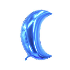 """№011 Фигура с гелием. """"Полумесяц"""" голубой. 28 см*71 см."""