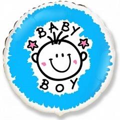 """№043 """"К рождению мальчика"""". С гелием. 45 см."""